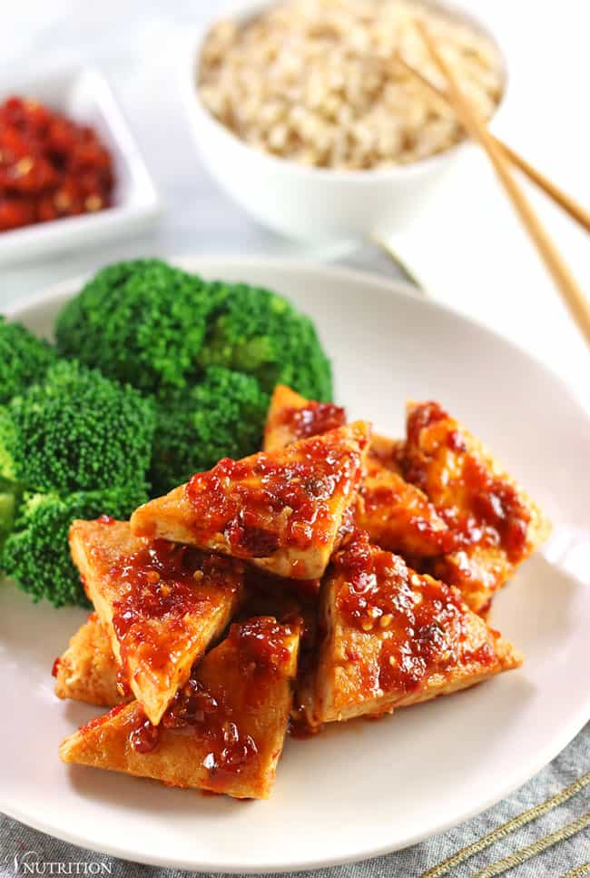 Bean Curd with Garlic & Chilli Sauce