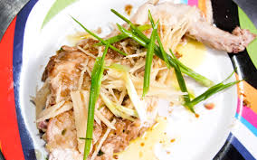 Chicken with Ginger & Spring Onion