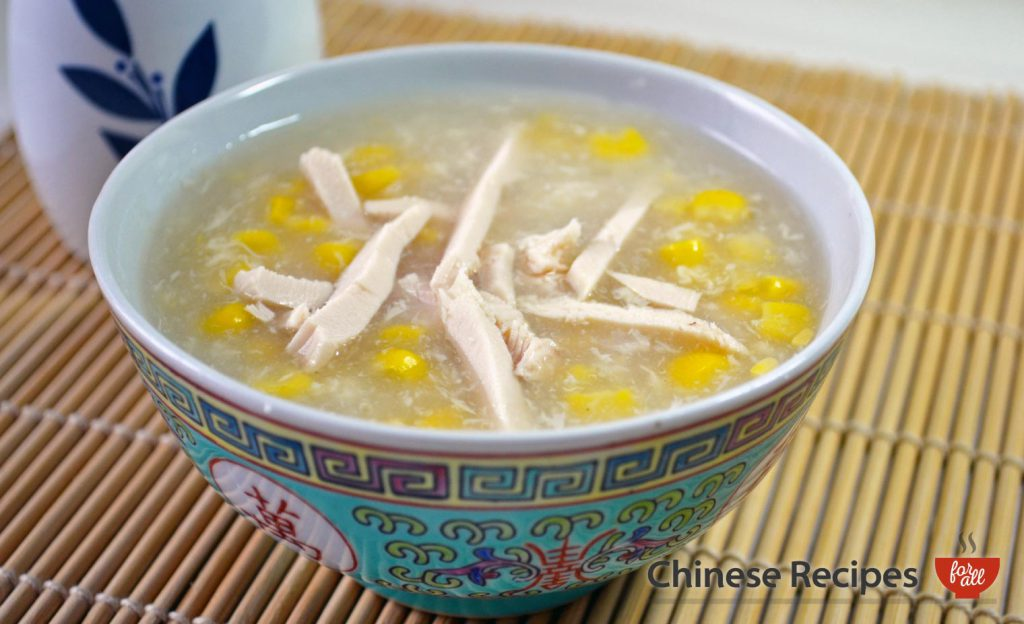 Chicken with Sweetcorn Soup