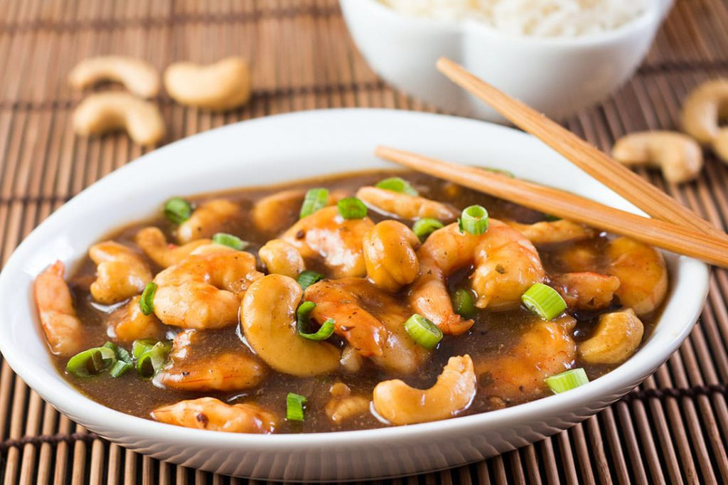 King Prawns with Cashew Nuts