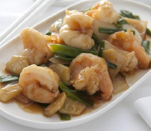 King Prawns with Ginger & Spring Onion