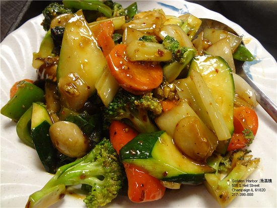 Mixed Vegetables with Garlic & Chilli Sauce