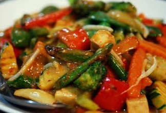 Mixed Vegetables with Satay Sauce
