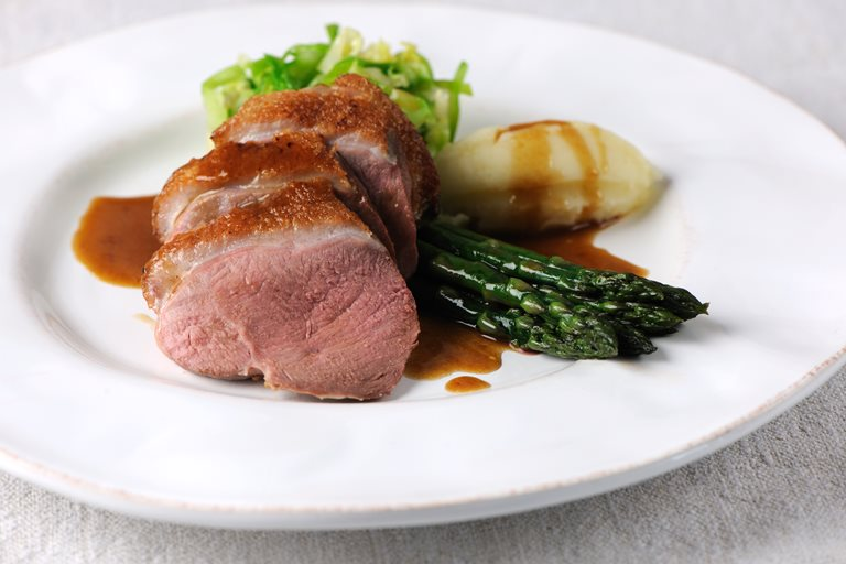 Roast Duck with Honey & Black Pepper Sauce