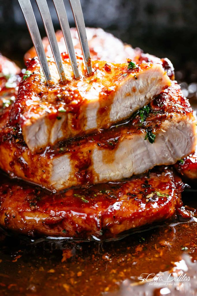 Roast Pork with Honey & Black Pepper Sauce